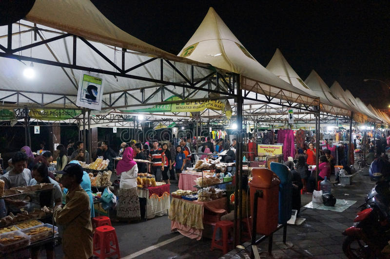 Night market stock images