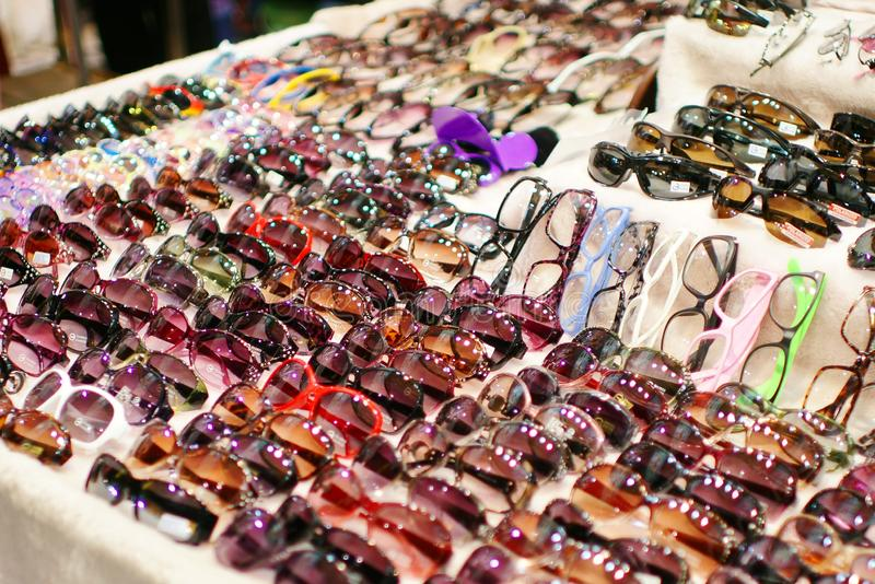 Night market in taiwan. Night market in keelung.taiwan glasses royalty free stock photo