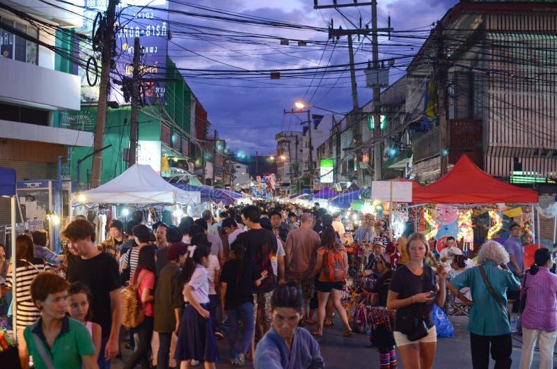 Night market in Thailand stock photo