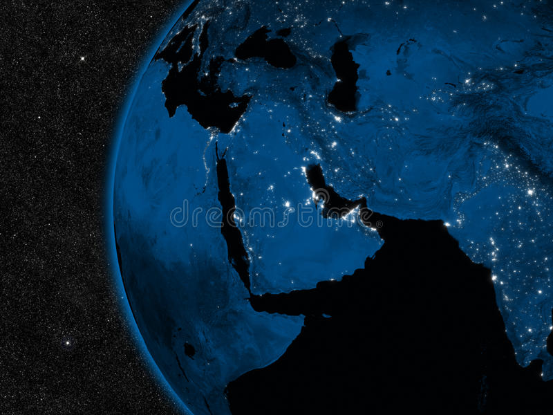 Night in Middle East stock illustration