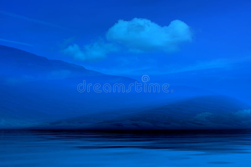 Night misty landscape royalty free stock photo
