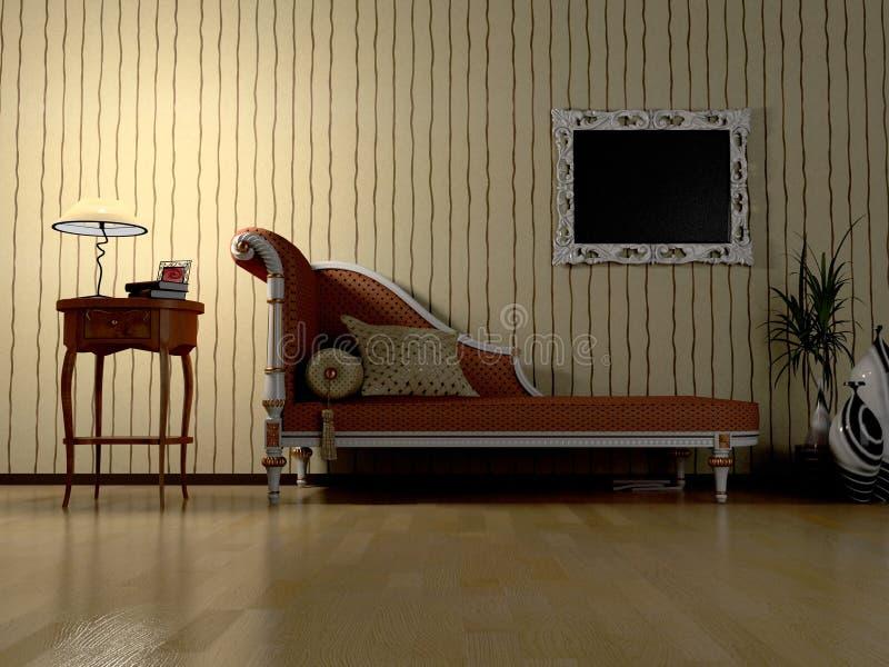 Night modern interior stock illustration