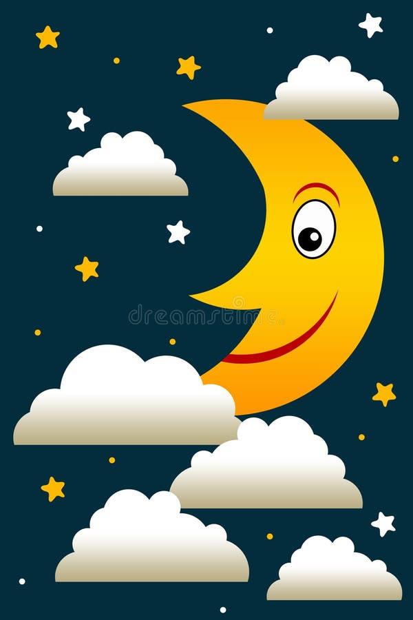 Download Night moon stock illustration. Image of dreams, dark - 34340510