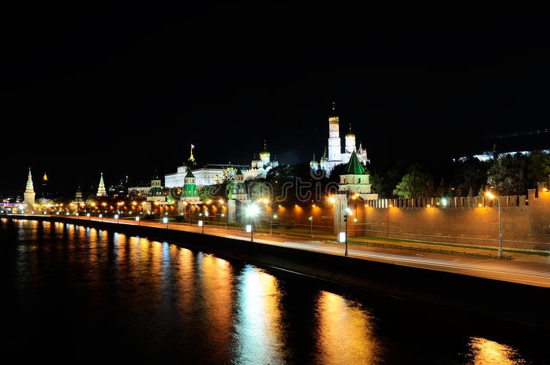 Download Night Moscow stock image. Image of reflection, lights - 24875879