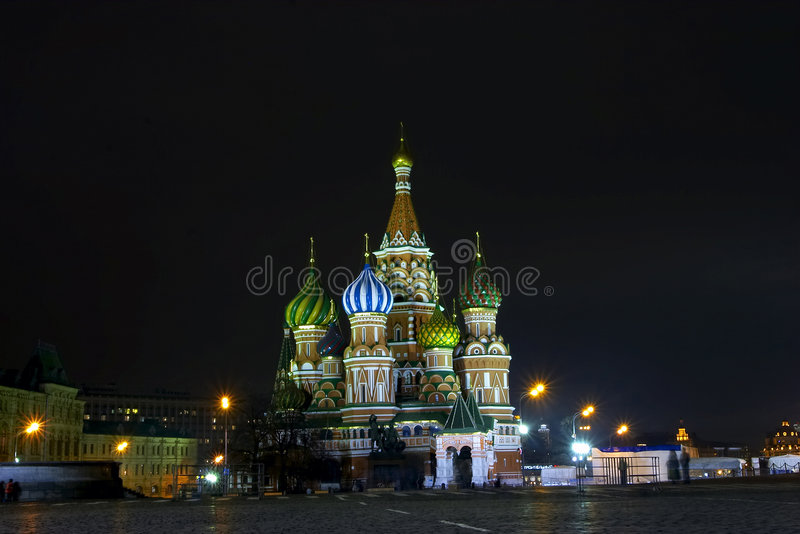 Night Moscow stock image
