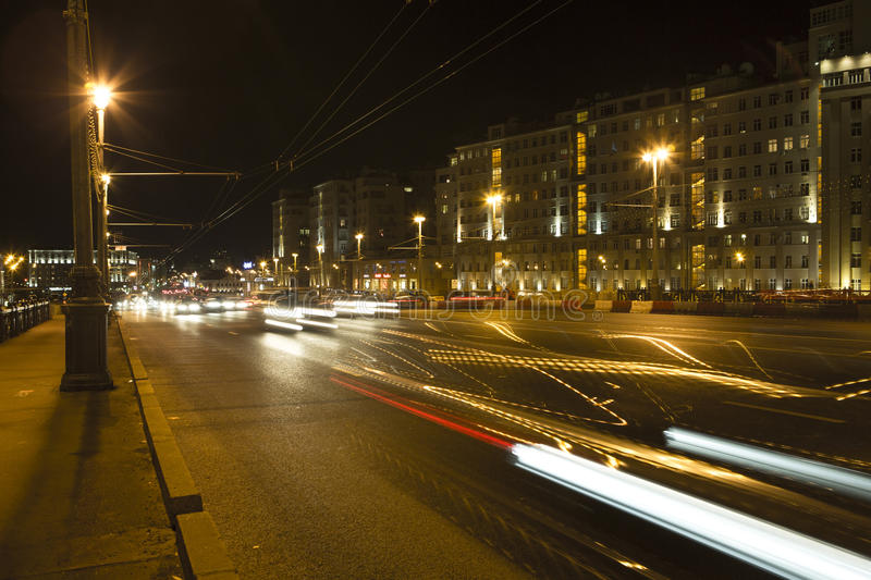 Night: Moscow city stock image