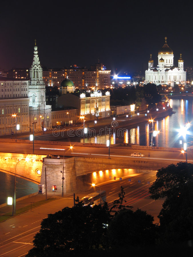 Free Night Moscow Streets. Royalty Free Stock Images - 2172029