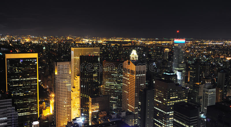 Download Night New York Skyline stock photo. Image of times, busy - 13126802