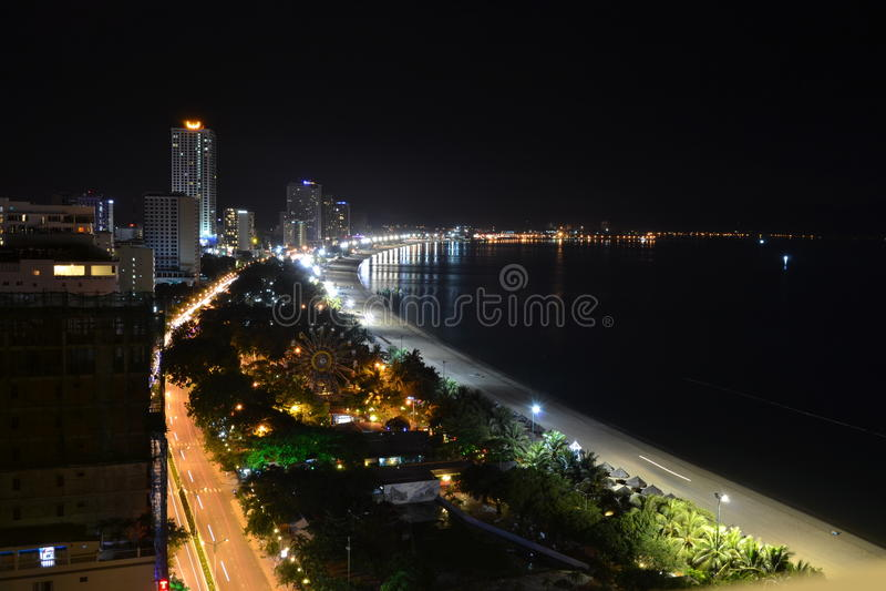Night Nha Trang Vietnam 2015 royalty free stock images