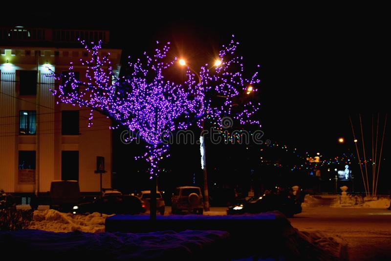 Night. In Nizhny Novgorod stock image