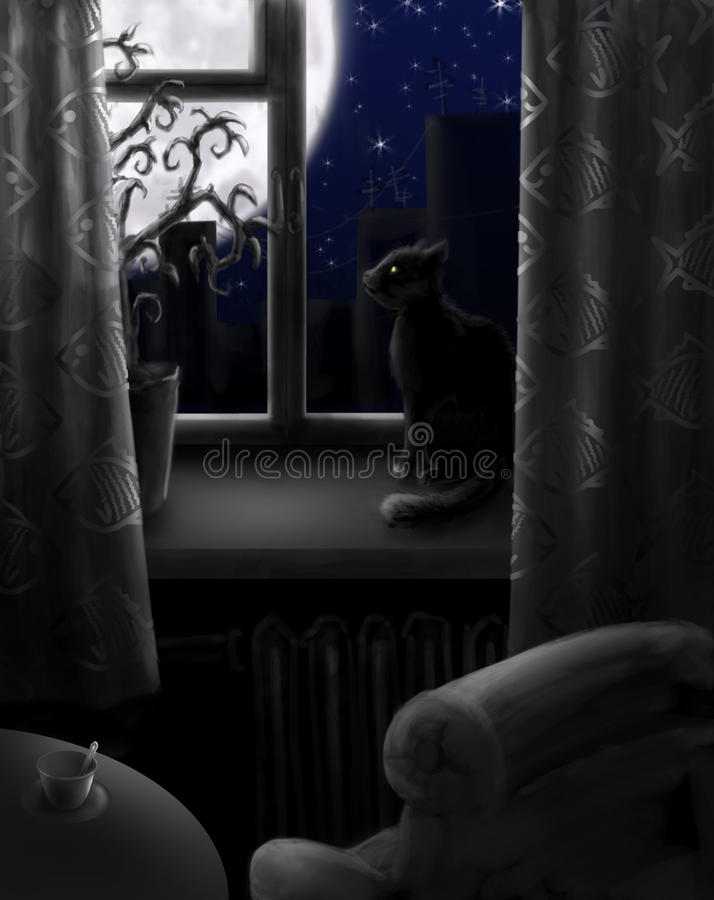 Night with no light stock illustration