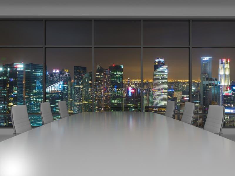 Night office stock photo