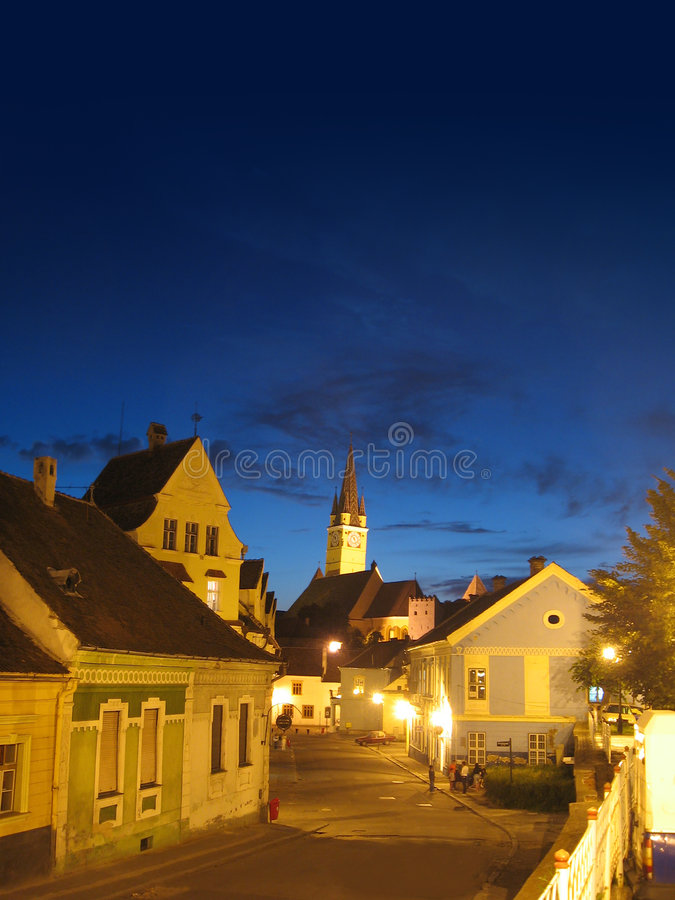 Free Night Old City Stock Photography - 941132