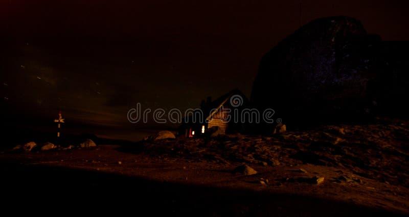 Night At The Omu Shelter Stock Photo