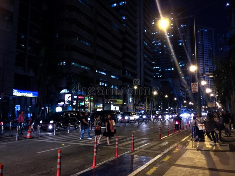 Night at Ortigas stock images