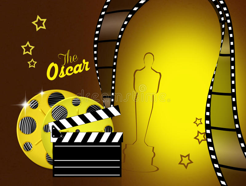 The night of the Oscars royalty free illustration