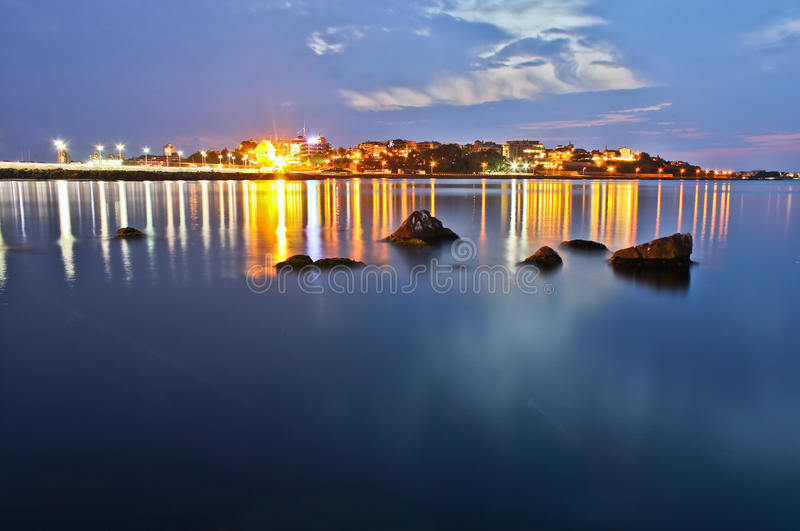 Night Over The Sea Royalty Free Stock Photo