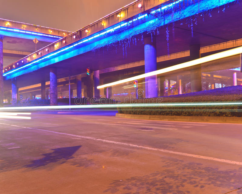 Download Night overpass stock image. Image of color, criss, line - 22468453