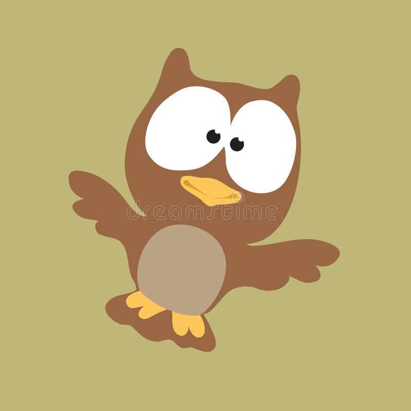 Download Night Owl stock vector. Image of bird, conserve, cute - 10325020