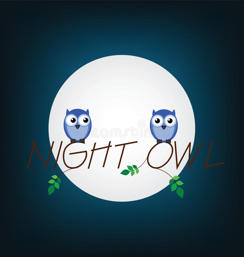 Download Night owl stock vector. Illustration of dark, moonlight - 25298803