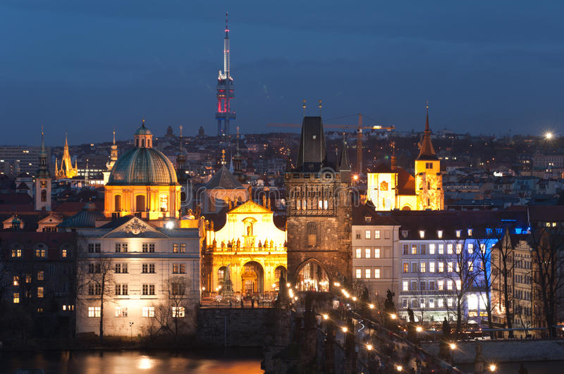 Download Night Panorama Of Prague, Czech Republic. Stock Image - Image: 22951595