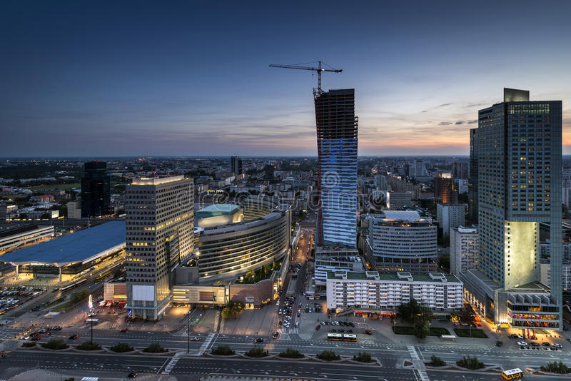 Download Night Panorama Of Warsaw Royalty Free Stock Photo - Image: 26333105