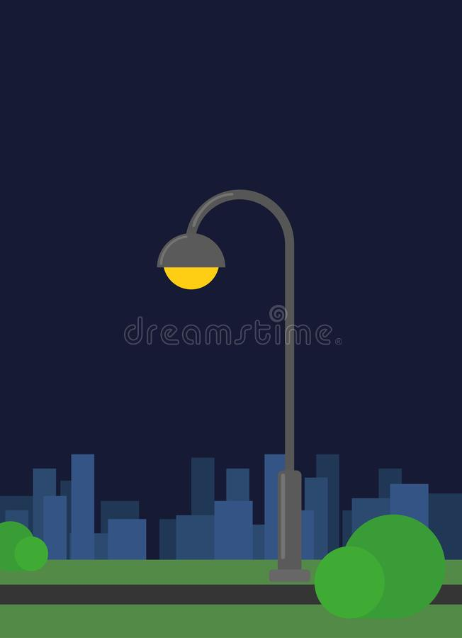 Night scene with old town lamp royalty free stock images