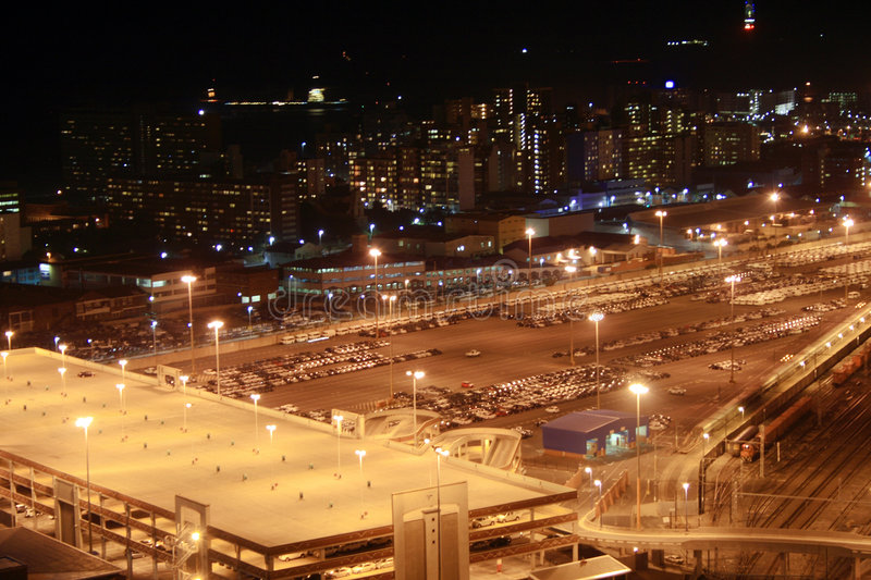 Download Night parking lot stock photo. Image of buildings, harbor - 5028968