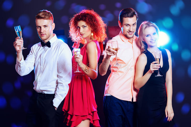 Night party royalty free stock image