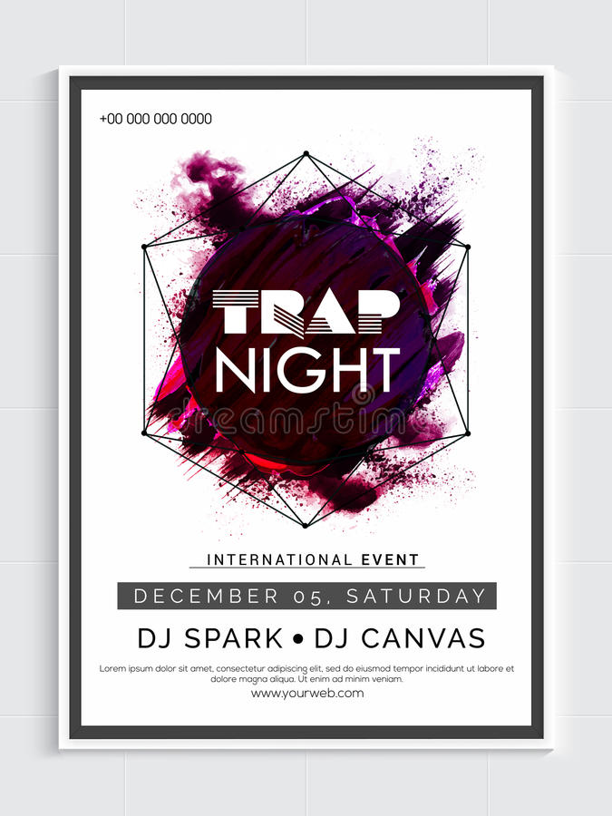 Night Party Flyer Template Or Banner Design Stock Illustration