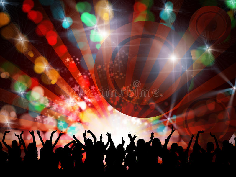 Night party people stock illustration