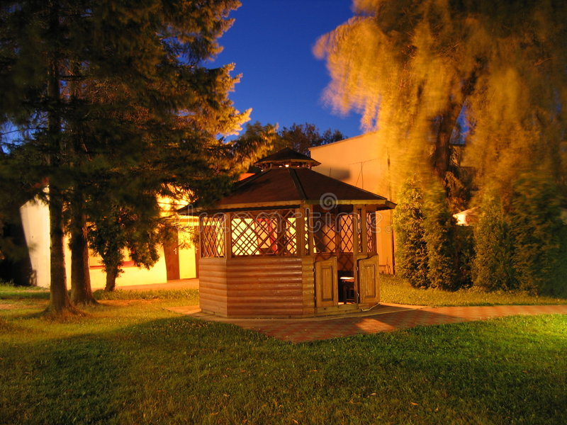 Night Photo Of An Arbour Royalty Free Stock Image