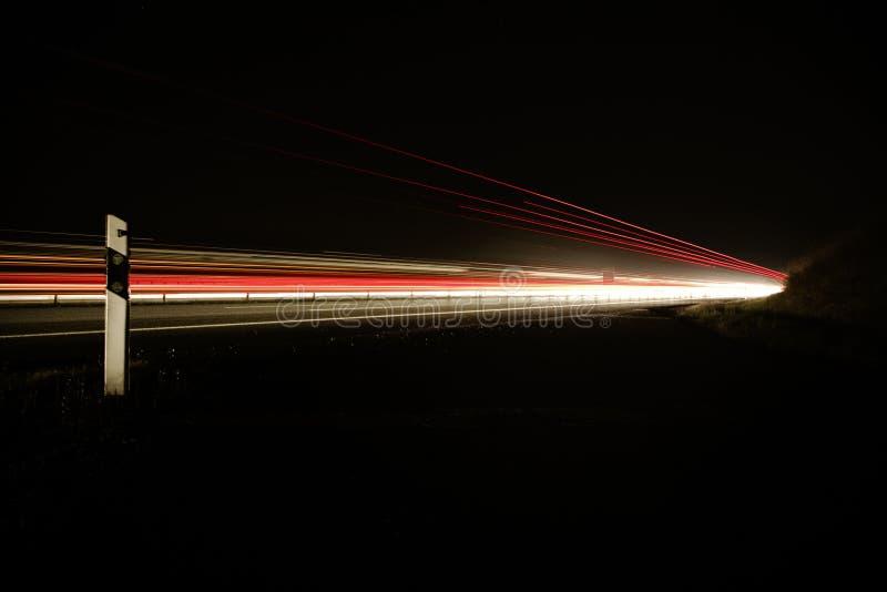 Night Photo of Car Lights on Bridge royalty free stock photos