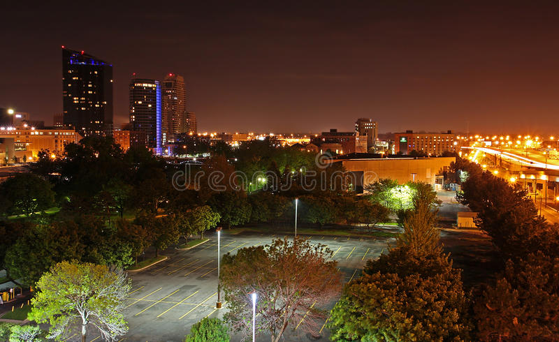 Night Photo Of Grand Rapids Mi Skyline Royalty Free Stock
