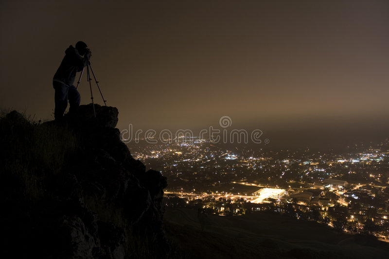 Download Night Photographer stock photo. Image of outside, late - 1052458