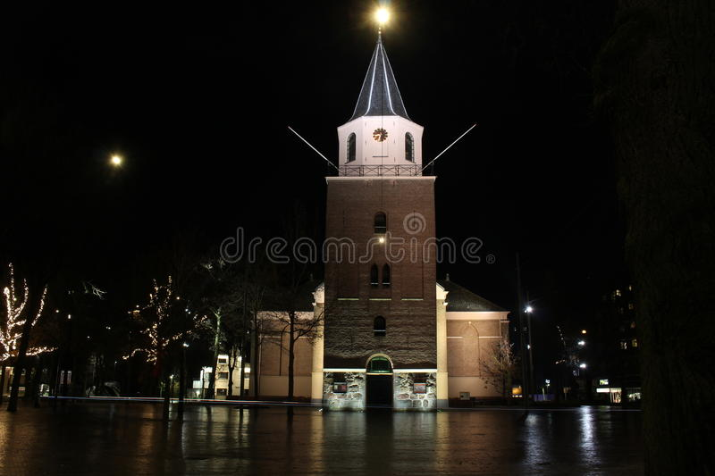 Night photography Emmen. In the Netherlands royalty free stock photos