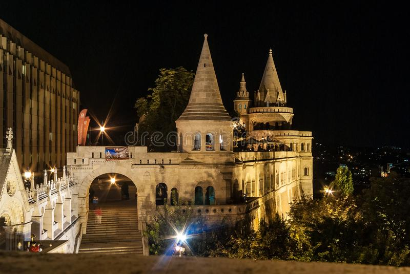 Towers of the Fishermen Bastion in Budapest, Hungary stock photos