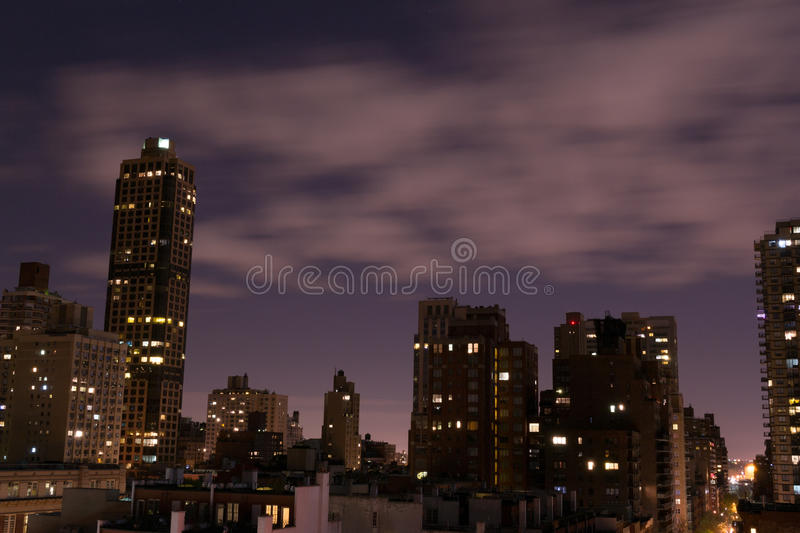 Night picture of the UES royalty free stock image