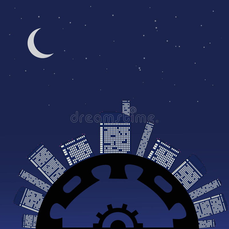 Download Night planet under stars. stock vector. Illustration of business - 31594566