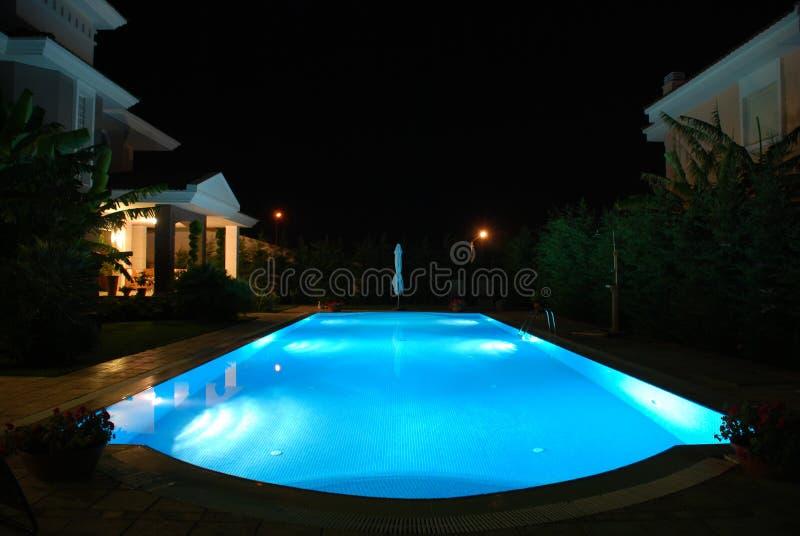night pool στοκ φωτογραφίες