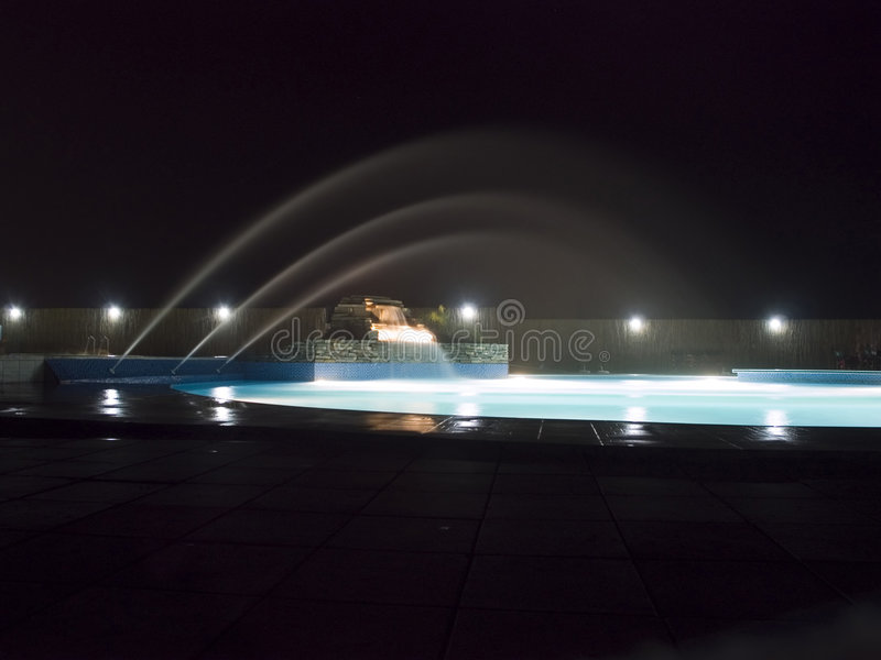 Night pool stock images