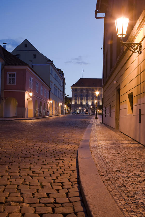 Download Night Prague stock image. Image of lane, lesser, pavement - 11187885