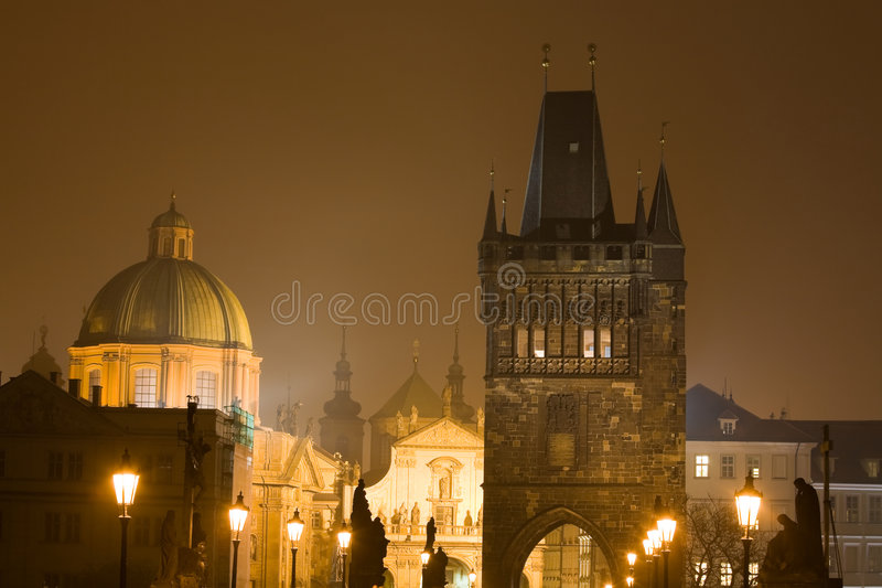 Download Night Prague fog stock image. Image of gate, scape, scenic - 7188279