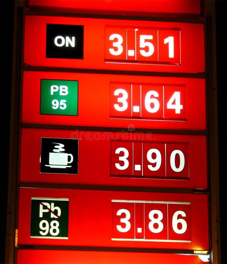 Night prices stock image