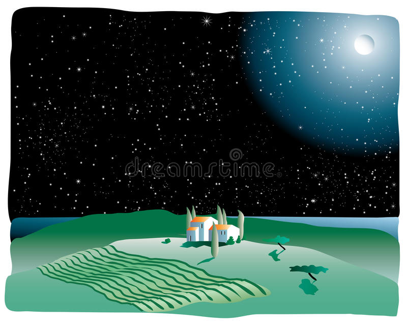 Download Night in ptovence stock illustration. Illustration of ancient - 10060716