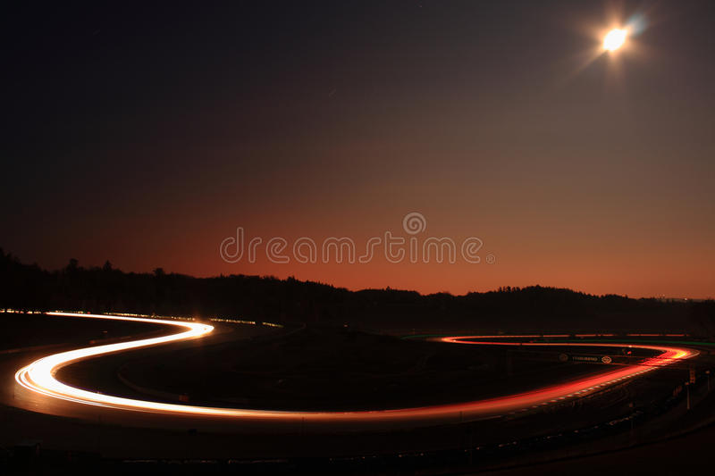 Download Night race stock image. Image of light, race, automobile - 12570391