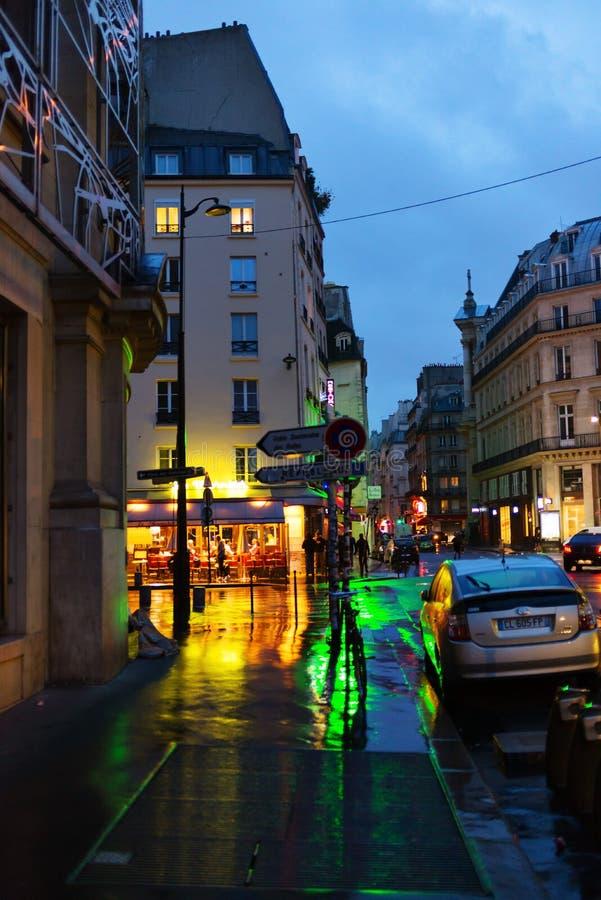 Free Night Rain In Paris. Stock Photo - 74323970