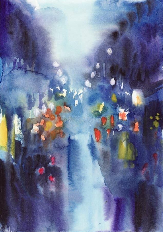 Free Night Rainy Background Stock Photography - 33285612