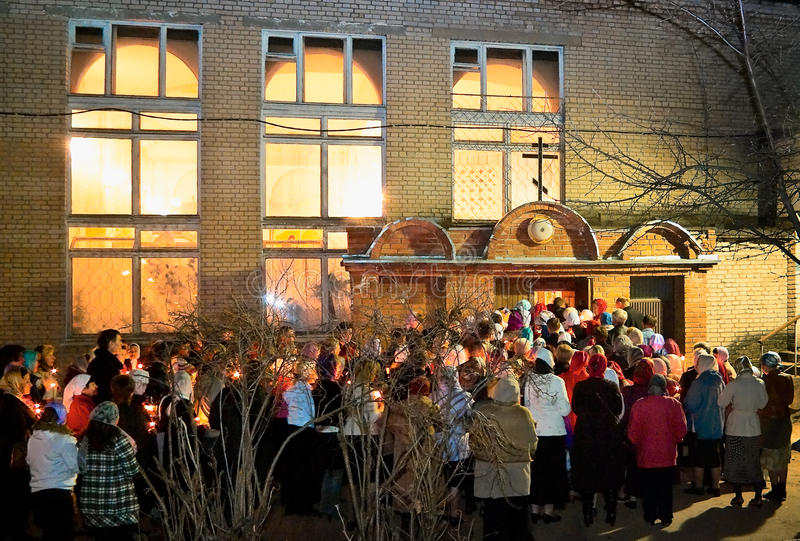 Night religious procession for Easter. royalty free stock photo