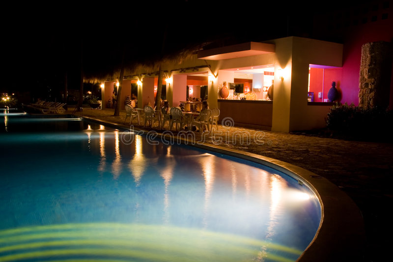 Night at the Resort stock photos